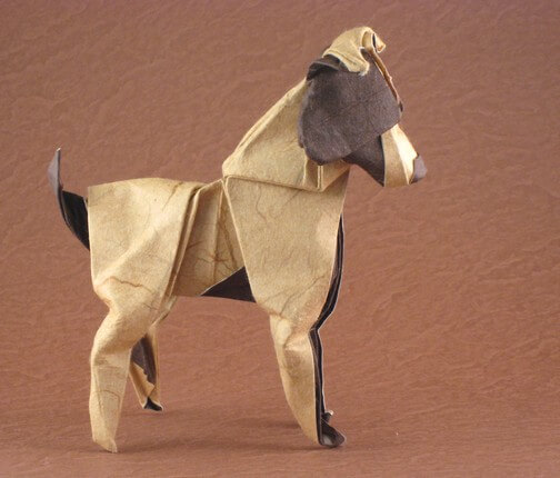 Jack Russel Terrier by Nathan Geller (Press to Buy online this Origami Dog Template)