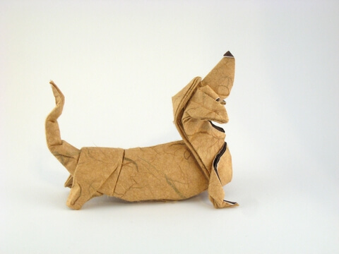 Basset Hound by Quentin Trollip (Press to Buy online this Origami Dog Template)