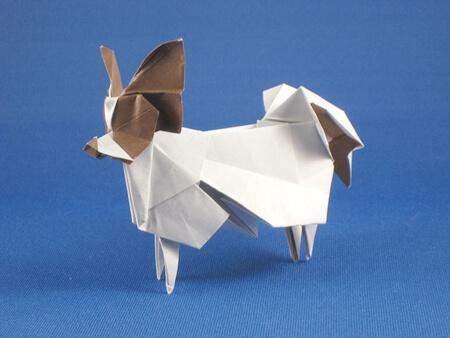 Papillon by Hideo Komatsu (Press to Buy online this Origami Dog Template)