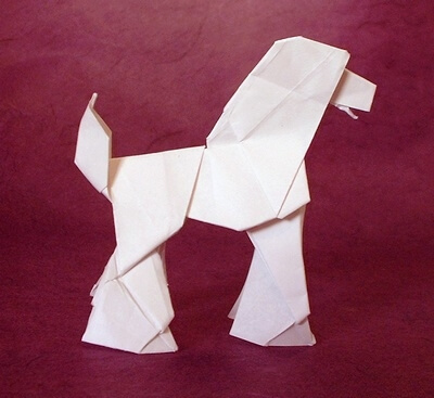 Poodle by Seiji Nishikawa (Press to Buy online this Origami Dog Template)