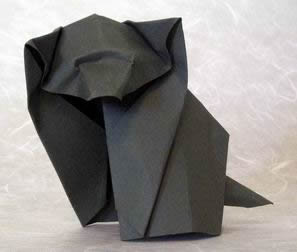 Puppy by Akira Yoshizawa (Press to Buy online this Origami Dog Template)