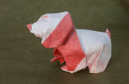 Puppy by Nicolas Terry (Press to Buy online this Origami Dog Template)