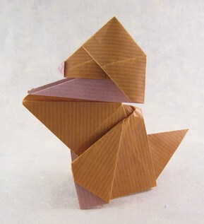 Puppy by Roman Diaz (Press to Buy online this Origami Dog Template)