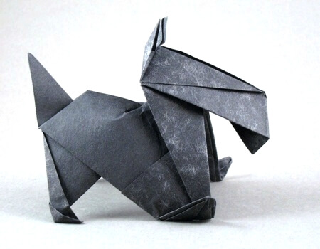 Scottie dog by Stephen Weiss (Press to Buy online this Origami Dog Template)