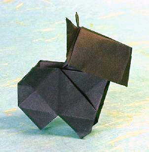 Scottie Dog 3 by Edwin Corrie (Press to Buy online this Origami Dog Template)