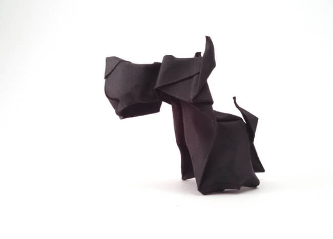 Scottish terrier by Hoang Tien Quyet (Press to Buy online this Origami Dog Template)