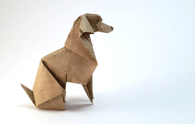 Weimaraner by Roman Diaz (Press to Buy online this Origami Dog Template)