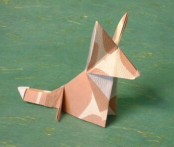 Welsh Corgi by Guspath Go (Press to Buy online this Origami Dog Template)