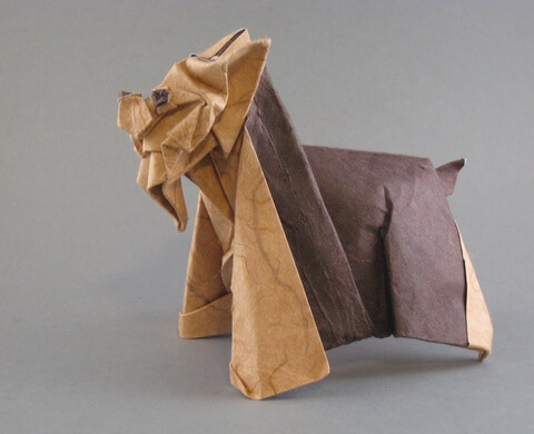 Yorkshire terrier by Seiji Nishikawa (Press to Buy online this Origami Dog Template)