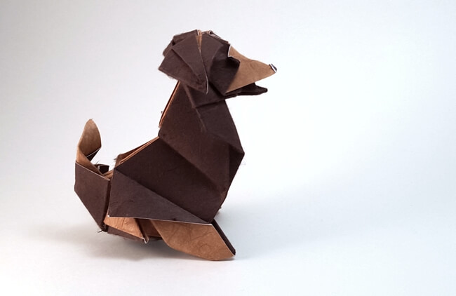Beagle by Roman Diaz (Press to Buy online this Origami Dog Template)