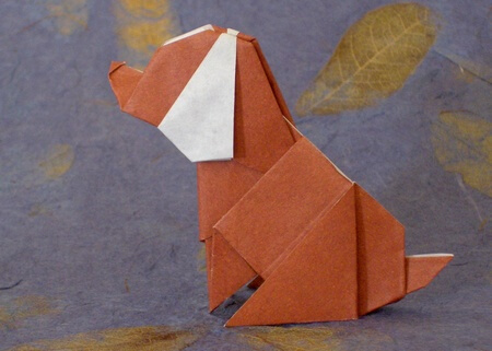 Dog by Ryo Aoki (Press to Buy online this Origami Dog Template)