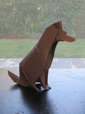 Origami Dogs, Origami Puppies, How to fold make Dog Origami