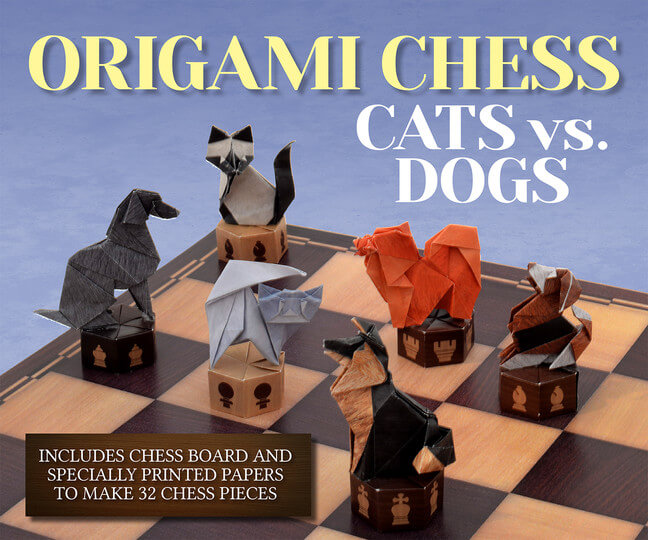 Dog Origami Chess Game Kit