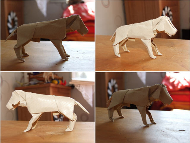 Fold Origami Dogs, Origami Puppies - This Origami (c) by ERIC VIGIER