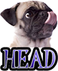 DOG HEAD - DOGICA&reg