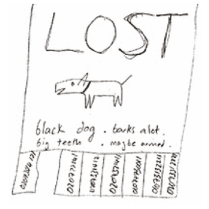 lost dog and puppy