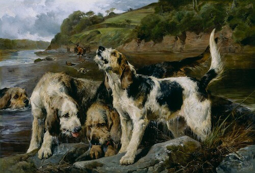 This Image is (c) John Sargent Noble, Otter Hunting (