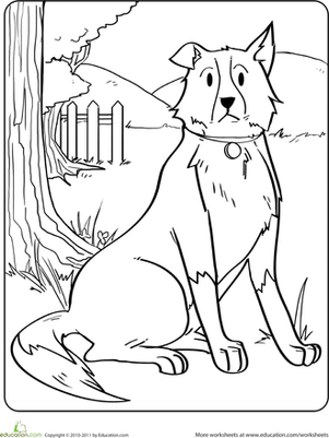 DOG COLORING FREE TEMPLATES