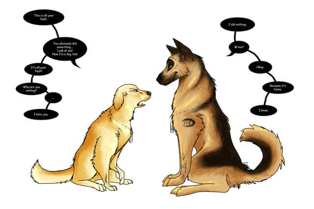DOG TALKING LANGUAGE