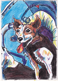SOVIET SPACE DOG DRAWINGS