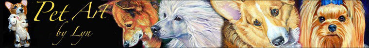 DOG ART by LYN HAMER COOK