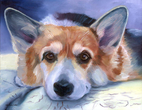 DOG ART, DRAWINGS, PAINT by LYN HAMER COOK
