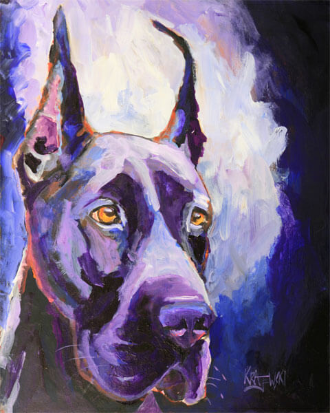 DOG ART, DRAWINGS, PAINT by RON KRAJEWSKI