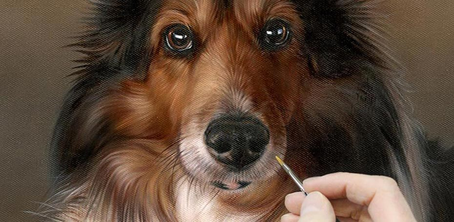 DOG ART, DRAWINGS, PAINT by Melanie and Nicholas