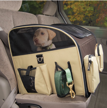DOG TRAVEL ACCESSORY: SAFETY BELTS, CRATES, SEATS, HARNESSES