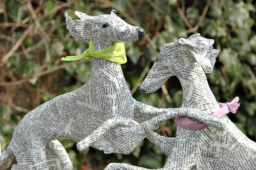 Dog & Puppy Sculpture Homemade Design