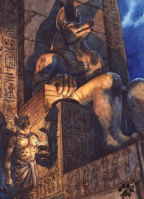 EGYPTIAN CANINE CATACOMBS - THIS IMAGE (c) BY IRON MAIDEN !!!